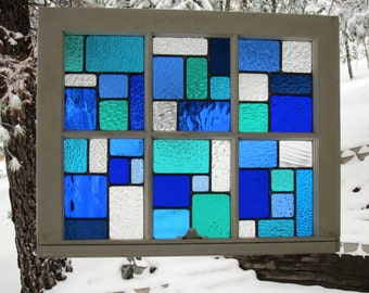Blues Reclaimed Wood Window