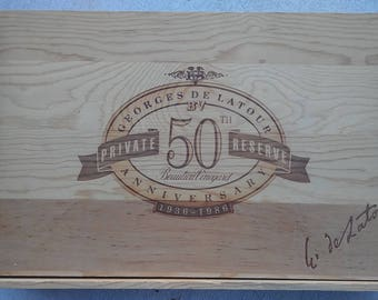 Wine Crate/ Beaulieu Vineyard/ Napa Crate / Wedding Card Box / Wedding Decor/ Magazine Holder/Magazine Holder Wooden/ Garden boxes