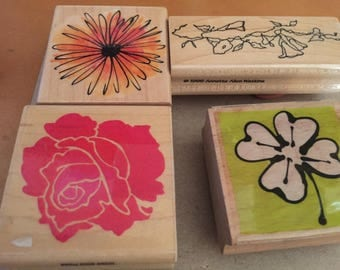 New Floral Rubber Stamps