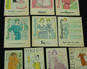 Pattern Fashion Brochures, 1960 and 61 from Department Stores, Vogue,Butterick, Simplicity