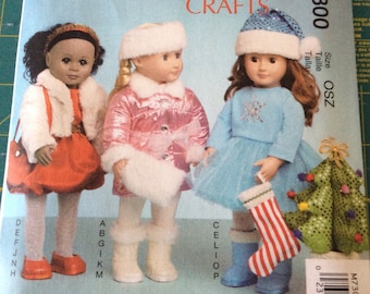 McCall's Pattern 7300 Clothing and Accessories for 18 Inch Dolls New and Uncut