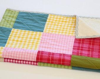 Baby Girl Patchwork Crib Quilt, Nursery Decor