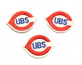 """vintage 60s 70s Chicago Cubs patch MLB baseball 1960 1970 oval patch 3"""" felt patch World Series 2016 Cubbies Wrigleyville"""