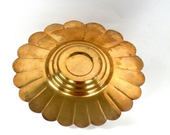 Vintage Solid Brass Round Scalloped Decorative Dish Etsy Top selling shops most sold brass best sellers travel adventure simple design art