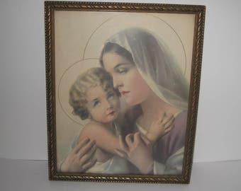Mary and Jesus Print