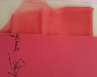 Vintage Pink Schiaparelli Nylon Stockings. One Pair. Seamless. In Box. 10.5