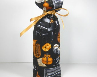 Musical Instruments, Class Wrap Wine Gift Bag