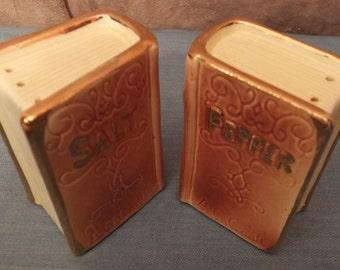 Book Shaped Salt and Pepper Shaker Set A. G. Cook Cookbook Salt and Pepper Shakers