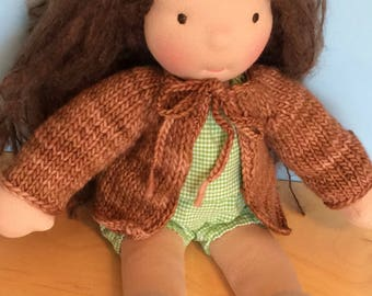 Waldorf Doll Knit Sweater for 14/15 Inch Waldorf Doll  **Applewood**