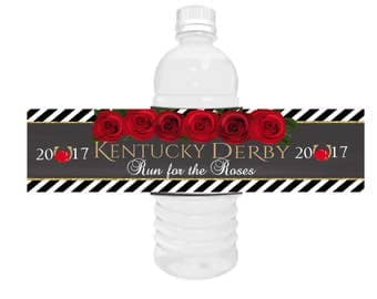 Kentucky Derby Horse Racing water bottle labels,Kentucky Derby water bottle labels,Kentucky Derby party,horse racing party theme.