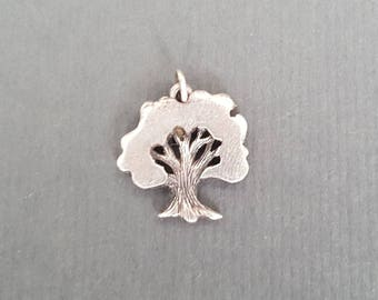 Rare James Avery Oak Tree Sterling Charm