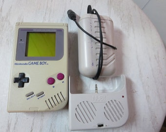 Vintage 1989 Nintendo Game Boy DMG 01 and Accessories