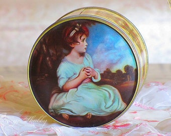 Charming Vintage Age Of INNOCENCE ENGLISH Toffee TIN, England, Candy Tin, Joshua Reynolds, Great Britain
