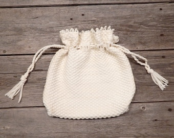 Mountain Dell Woven Drawstring Purse, Drawstring handbag, Loop Woven drawstring purse