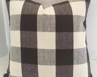 Decorative Pillow Cover in Buffalo Check P. Kaufmann