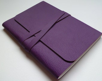 Leather Sketchbook Leather Journal Leather Notebook Journal. Purple Grained Leather.