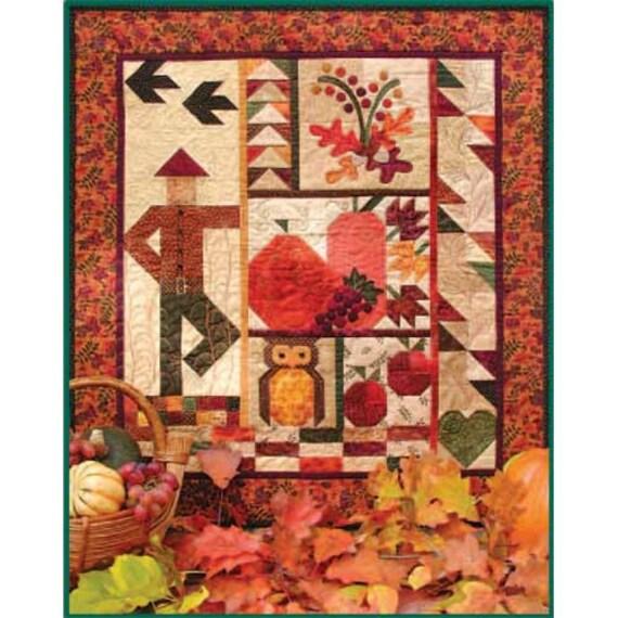 Fall Wall Art quilt pattern, fall wall hanging, pumpkin quilt, wall art pattern