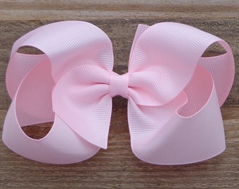 Light Pink Hair Bow~Large Boutique Hair~Boutique Hairbows~Boutique Hair Bow~Basic Boutique Bow~Pink Hair Bow~Easter Boutique Bows