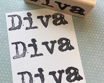 Diva Rubber Stamp