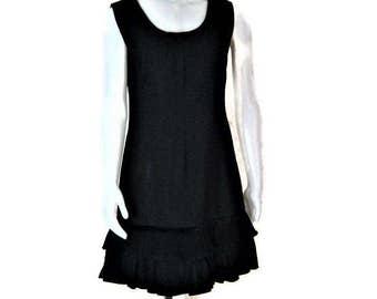 60s Cocktail Dress Black Cocktail Dress Short Black Dress 1960s Party Dress Black Dress 60s LBD Black Shift Dress Short Cocktail Dress