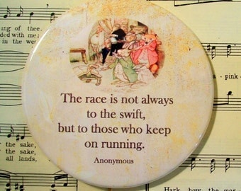 Encouragement Magnet, The Race is not Always to the Swift, Quote Magnet, Encouragement, Large Magnet, Refrigerator Magnet