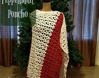 Peppermint Poncho Crochet Pattern