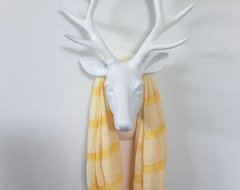 Stripe Infinity Scarf - Light Yellow Tonal Stripe  - Cotton Jersey Knit