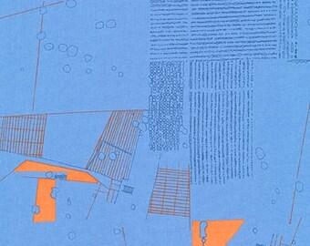 Friedlander Aerial in Blue Jay, Carolyn Friedlander, Robert Kaufman Fabrics, 100% Cotton Fabric, AFR-16605-82 Blue Jay