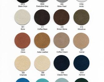 "Ultrasuede Soft Sampler 9""x 6""-  Choose from 36 colors."