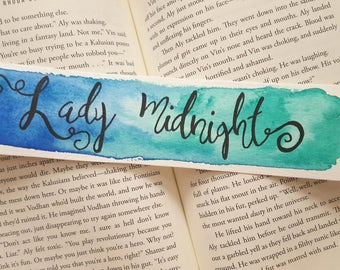 Lady Midnight Watercolor Bookmark, Gift For Booklover