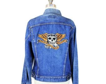 Levi's Harley Davidson Chainstitched Denim Jacket