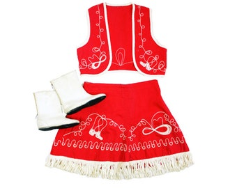 1950s 3 Piece Cowgirl Outfit