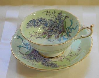 Paragon, LILACS, English Bone China, Teacup, Cup and Saucer