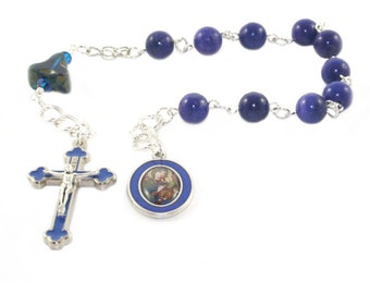 Catholic Prayer Beads, Our Lady of Perpetual Help Pocket Rosary, Man's Tenner