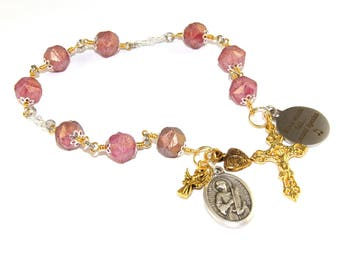 Saint Cecilia Chaplet Rosary, Catholic Patron Saint of Musicians & Church Music
