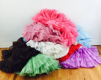 1950s / 1960s petticoats - 50s /60s crinolines in many colors- 50s square dance petticoats