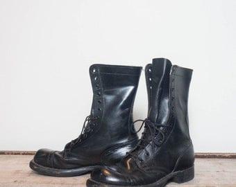 SALE 6.5 D | HH Jump Boots Black Combat Boots