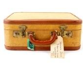 Vintage Tweed Suitcase (c.1940s) - Home Storage, Luggage Decor