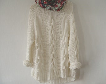 Bubbles & Cables. Chunky Sweater.
