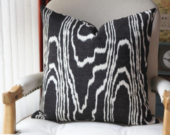 kelly Wearstler Agate Pillow Cover - Black Pillow - Light Brown Pillow - Designer Geometric Pillow Cover 444