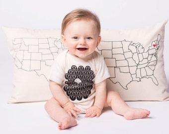 Black Sheep Baby Bodysuit - Funny Baby Onesie - Screen Printed Bodysuit
