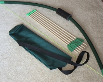 Bows and arrows archery toys for kids by playsafetoys on etsy for Kids pvc bow