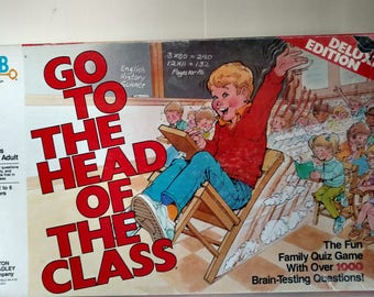 1986 Milton Bradley Go to the Head of the class