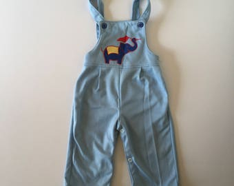 1980's Toddle Time Circus Elephant Overalls (12/18 months)