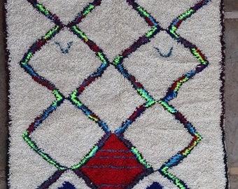 "250X145 cm 8'2"" x 4'9""     FREE SHIPPING WORLDWIDE AZ32007 Ourika ,Beni Ourain vintage berber rug Morocco,wool carpet ,boucherouite"