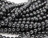 Hematite Round AAA, 4mm Beads -15 inch strand