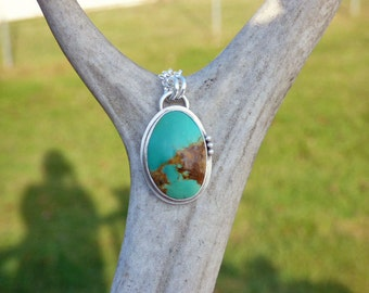 Manshaan Turquoise Sterling Silver Necklace