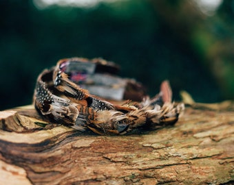 Woodland feather hair band