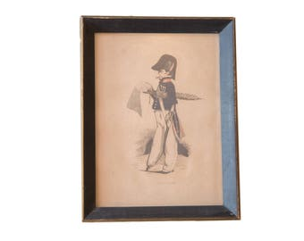 Antique Hand Colored Lithograph