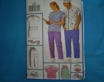 Butterick 4946 Uniforms Size L-Xl  Men and Women.